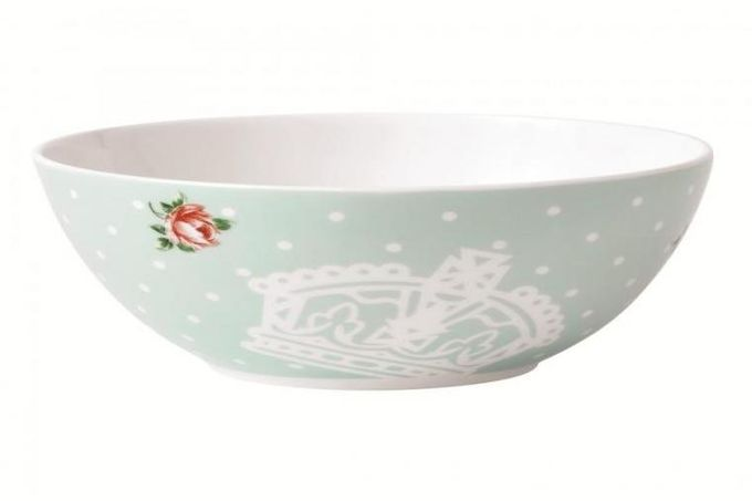 Royal Albert Polka Rose Soup / Cereal Bowl Modern 15cm