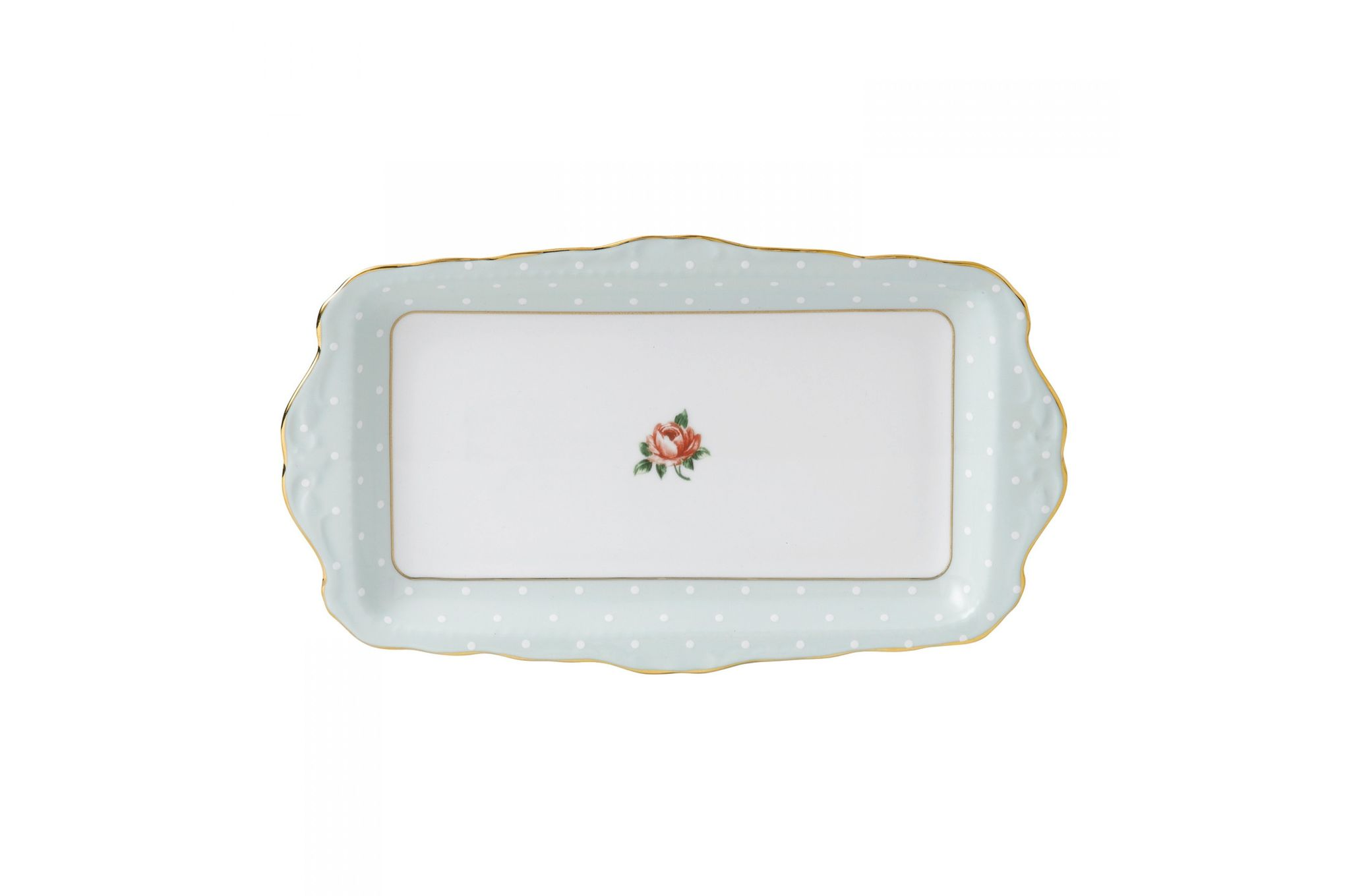 Royal Albert Polka Rose Sandwich Tray Boxed thumb 1