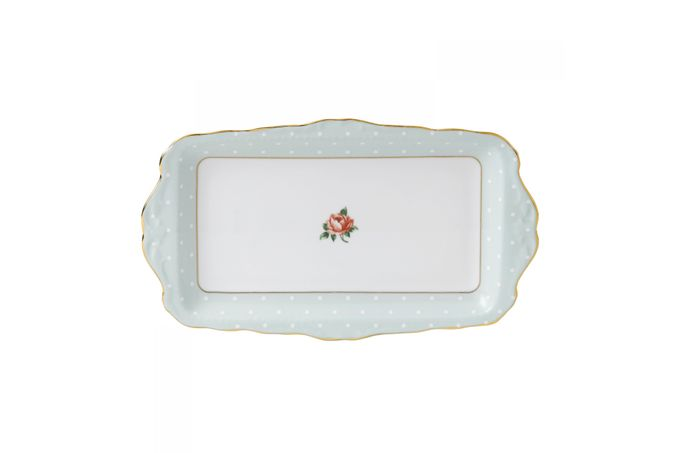 Royal Albert Polka Rose Sandwich Tray Boxed