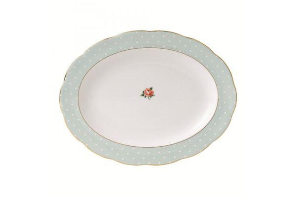 Royal Albert Polka Rose Oval Plate / Platter Vintage