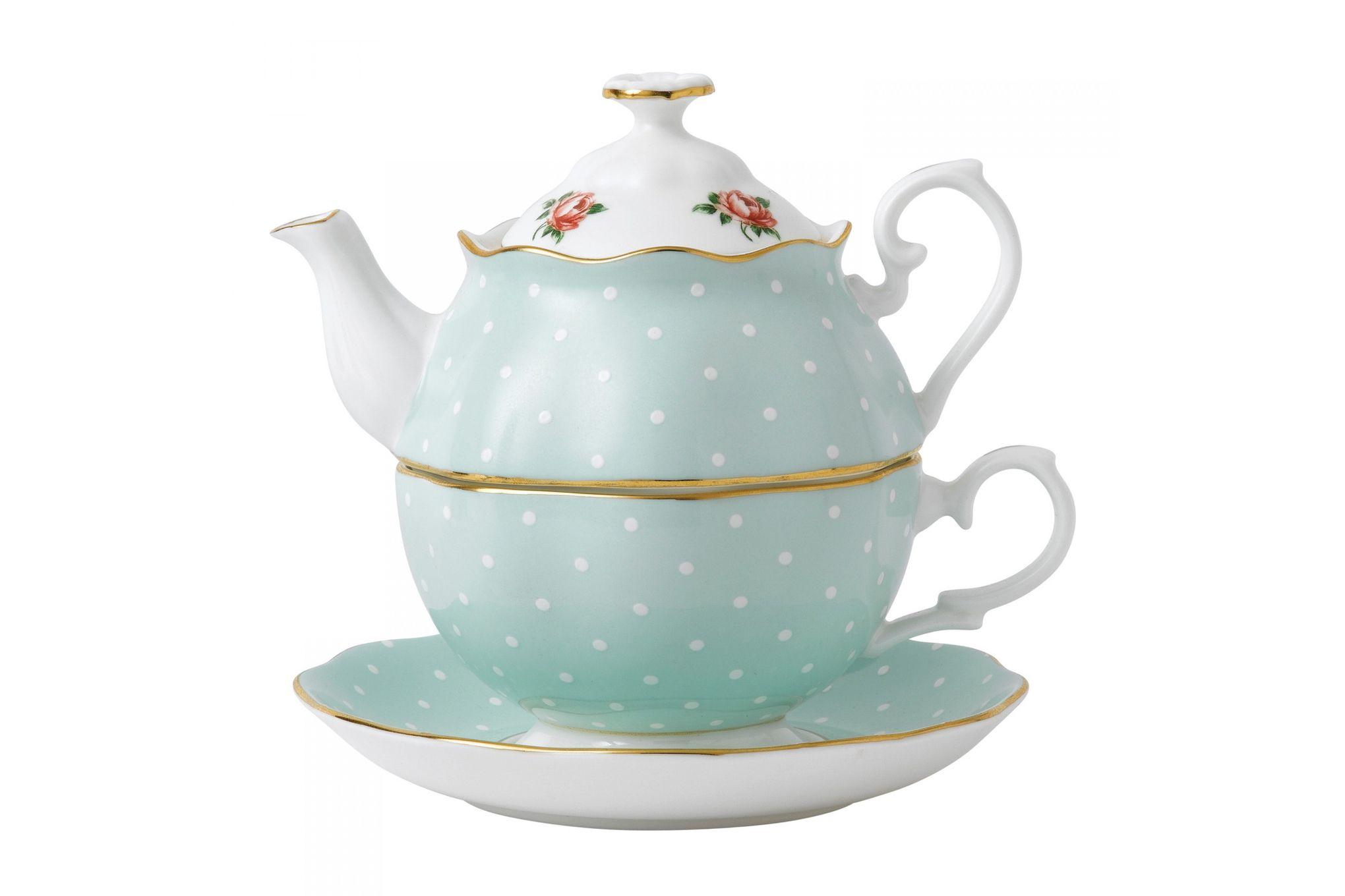 Royal Albert Polka Rose Tea For One thumb 1
