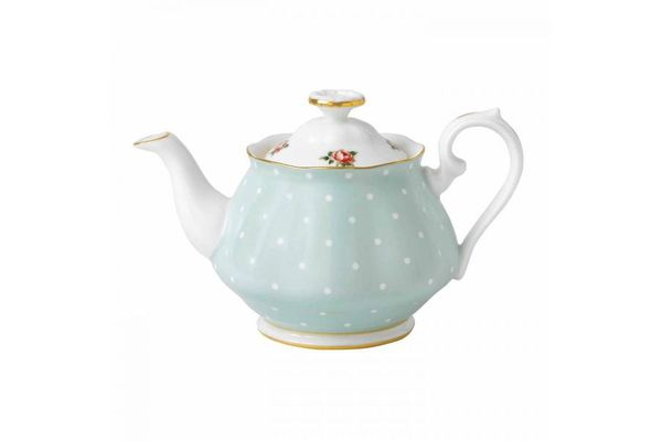 Royal Albert Polka Rose Teapot Vintage