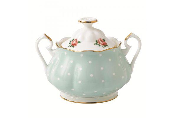 Royal Albert Polka Rose Sugar Bowl - Lidded (Tea) Vintage