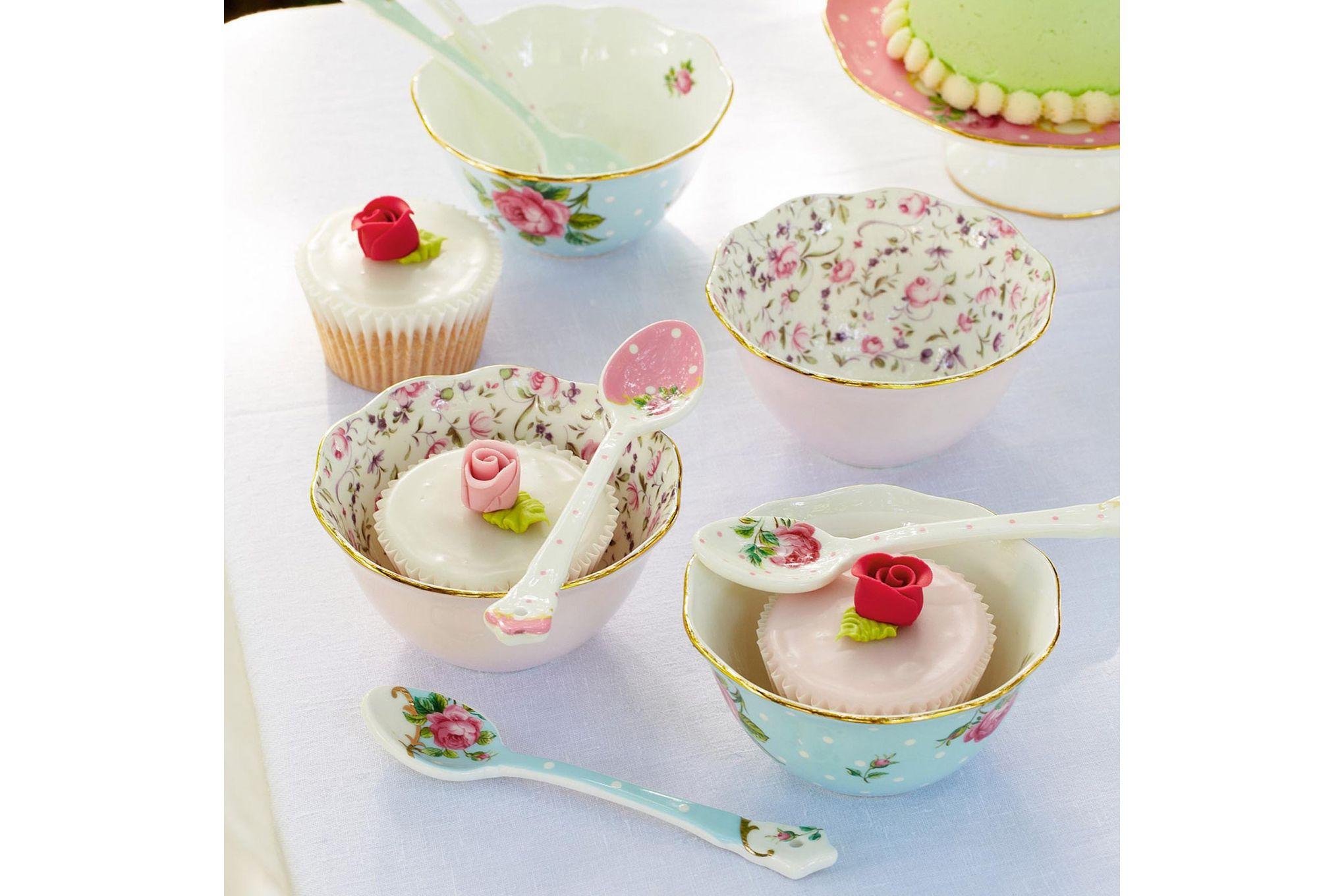 Royal Albert Rose Confetti Bowl Ice Cream Bowl thumb 2