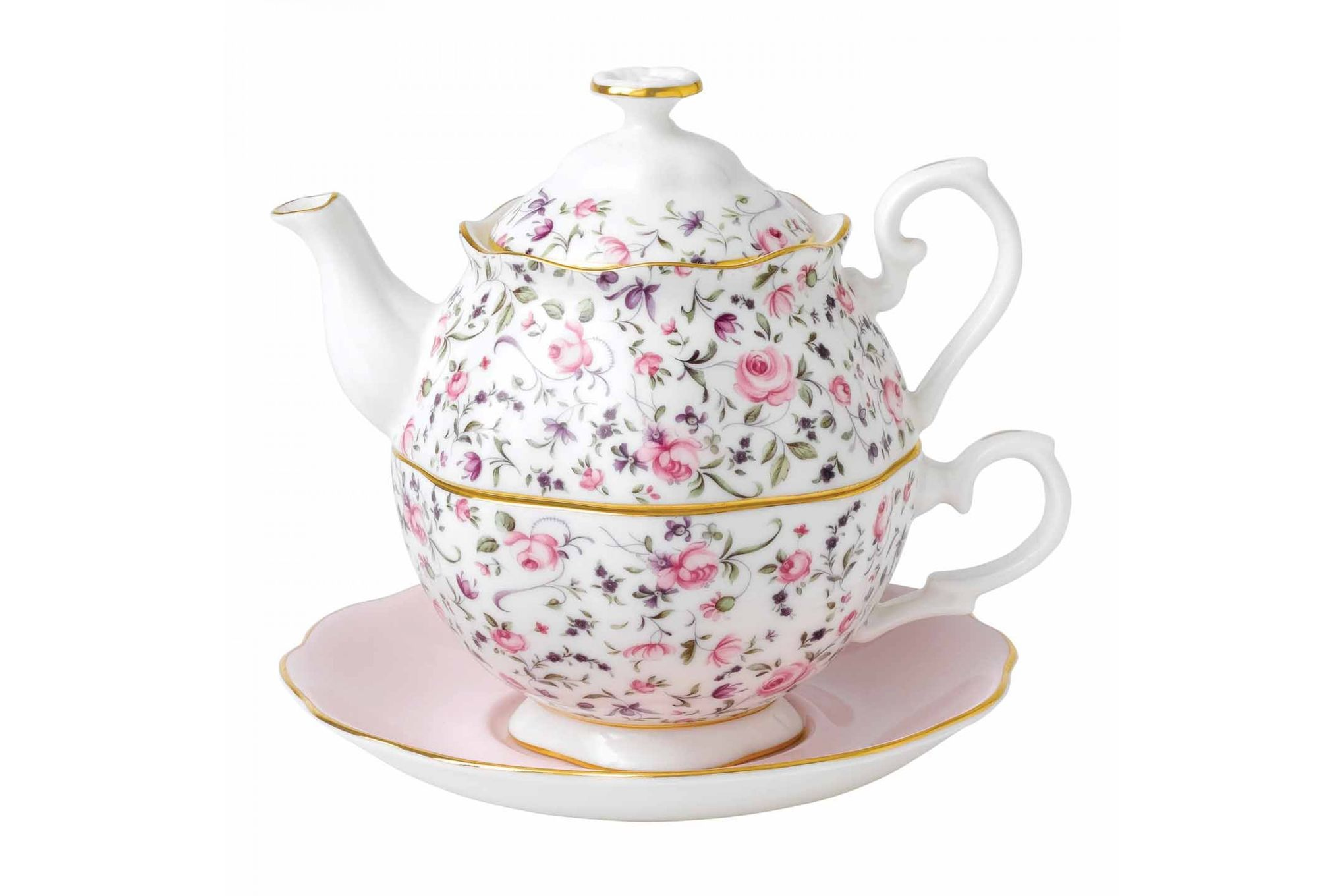 Royal Albert Rose Confetti Tea For One thumb 1