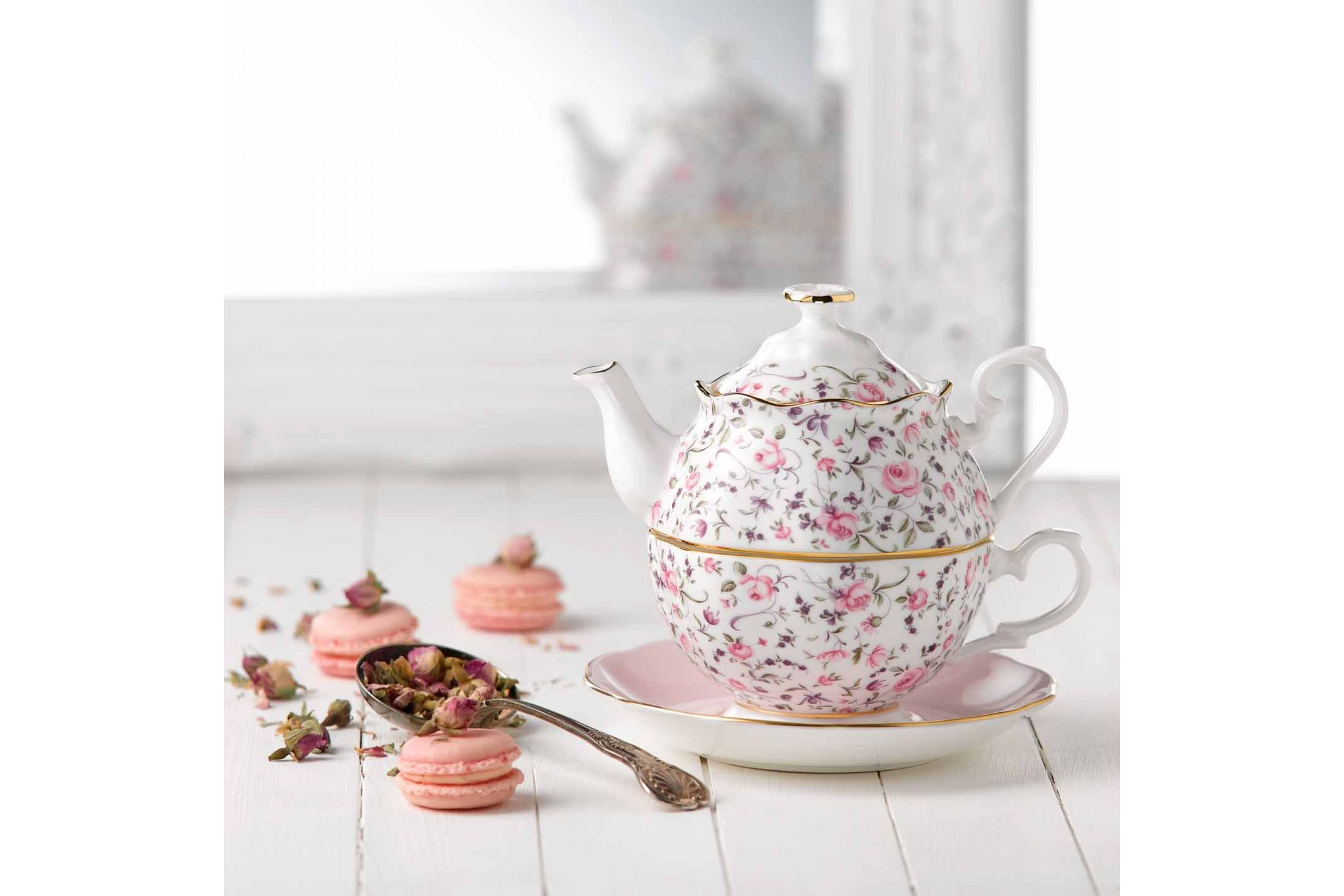 Royal Albert Rose Confetti Tea For One thumb 3