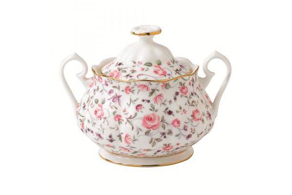 Royal Albert Rose Confetti Sugar Bowl - Lidded (Tea) Vintage