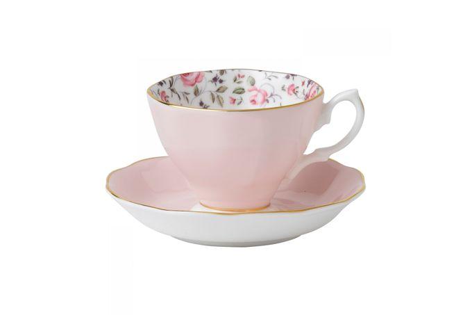 Royal Albert Rose Confetti Teacup & Saucer Vintage