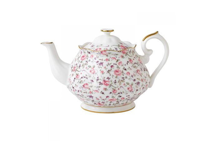 Royal Albert Rose Confetti Teapot Vintage