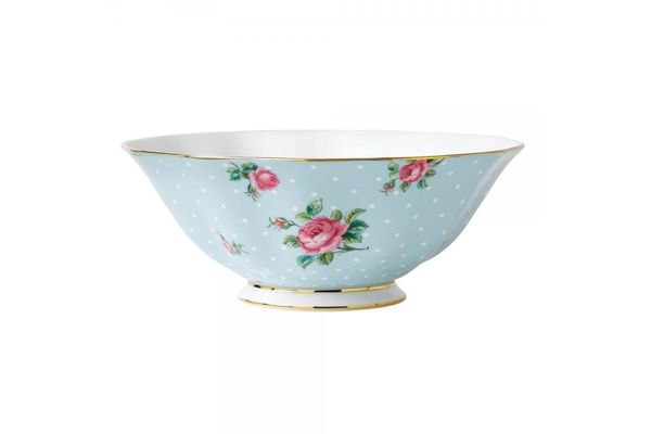 Royal Albert Polka Blue Serving Bowl Vintage