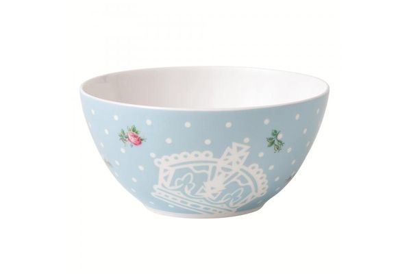 Royal Albert Polka Blue Soup / Cereal Bowl Modern