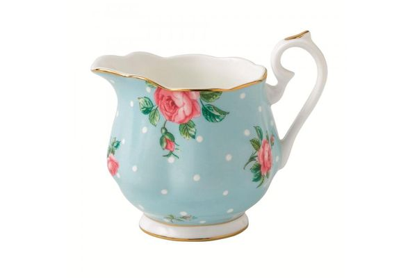 Royal Albert Polka Blue Milk Jug Vintage