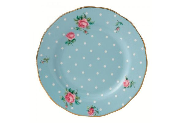 Royal Albert Polka Blue Tea Plate Vintage