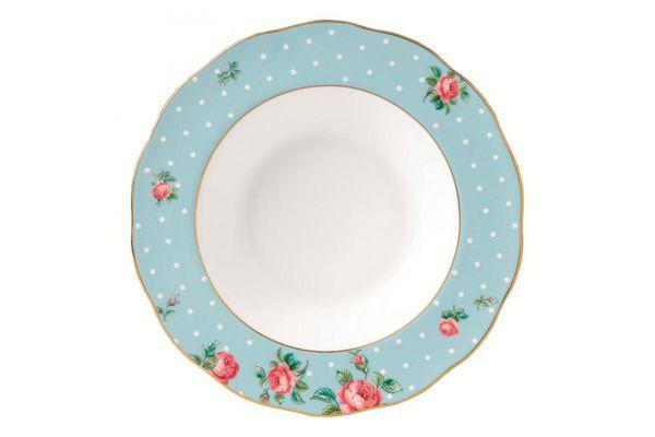 Royal Albert Polka Blue Rimmed Bowl Vintage