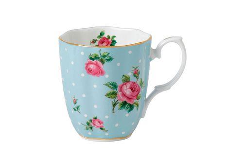 Royal Albert Polka Blue Mug Vintage