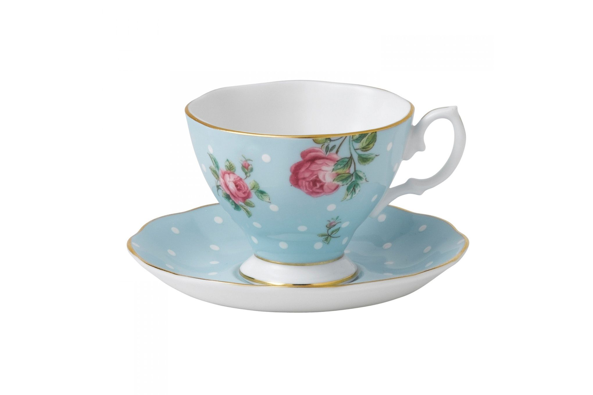 Royal Albert Polka Blue Espresso Cup & Saucer Boxed thumb 1