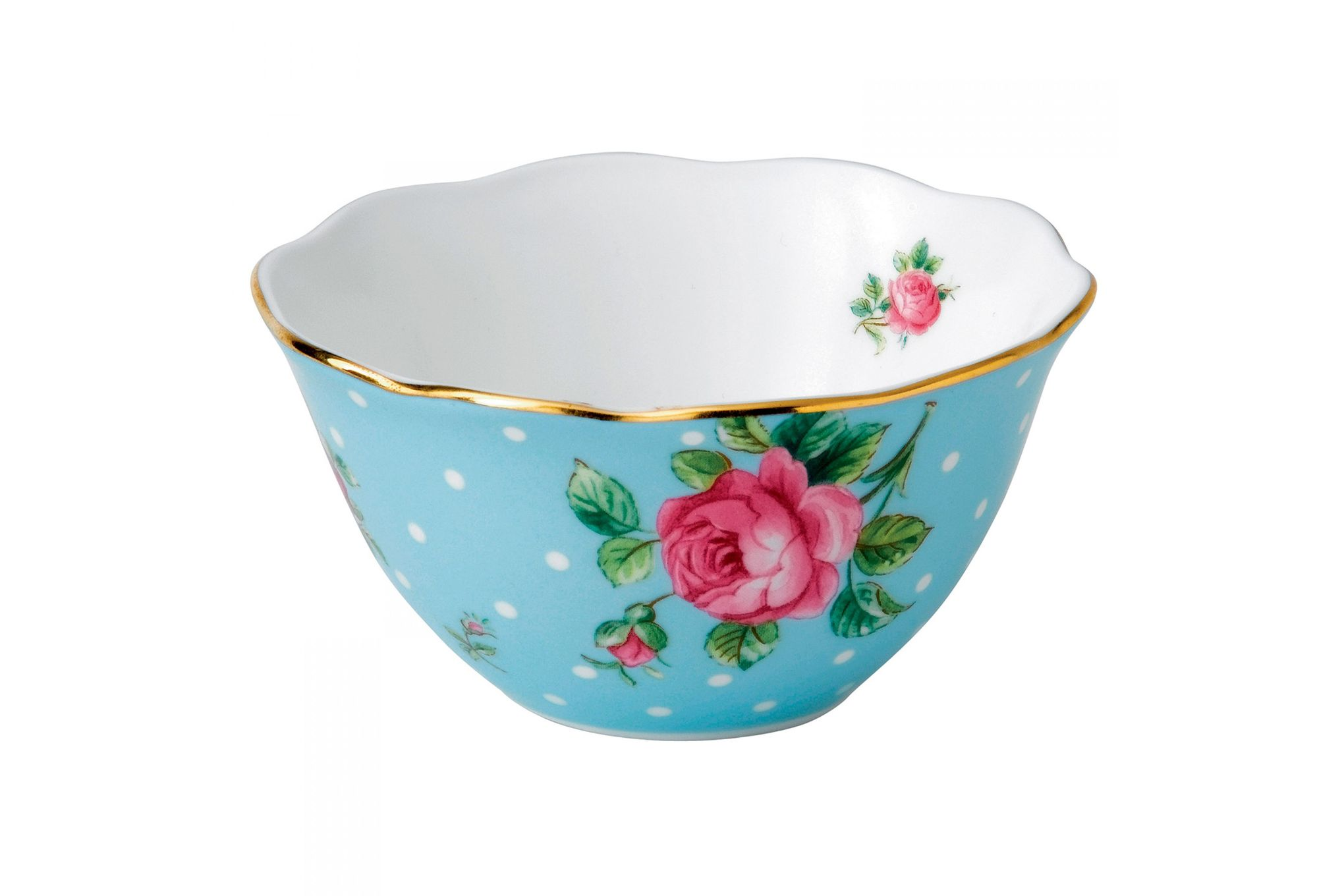 Royal Albert Polka Blue Ice Cream Bowl thumb 1