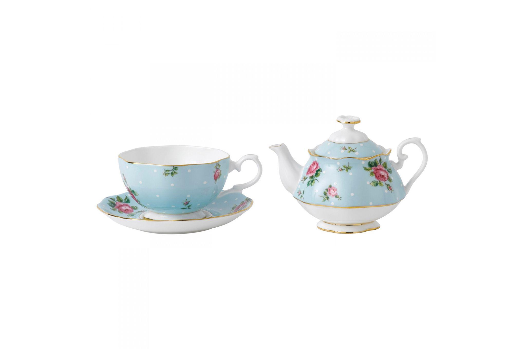 Royal Albert Polka Blue Tea For One thumb 2
