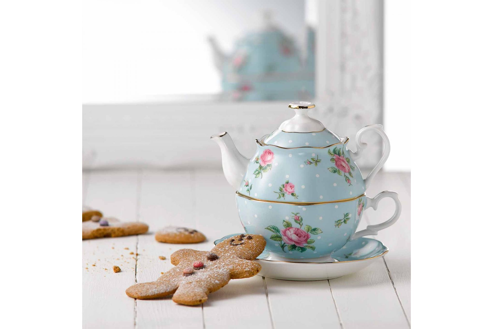 Royal Albert Polka Blue Tea For One thumb 3