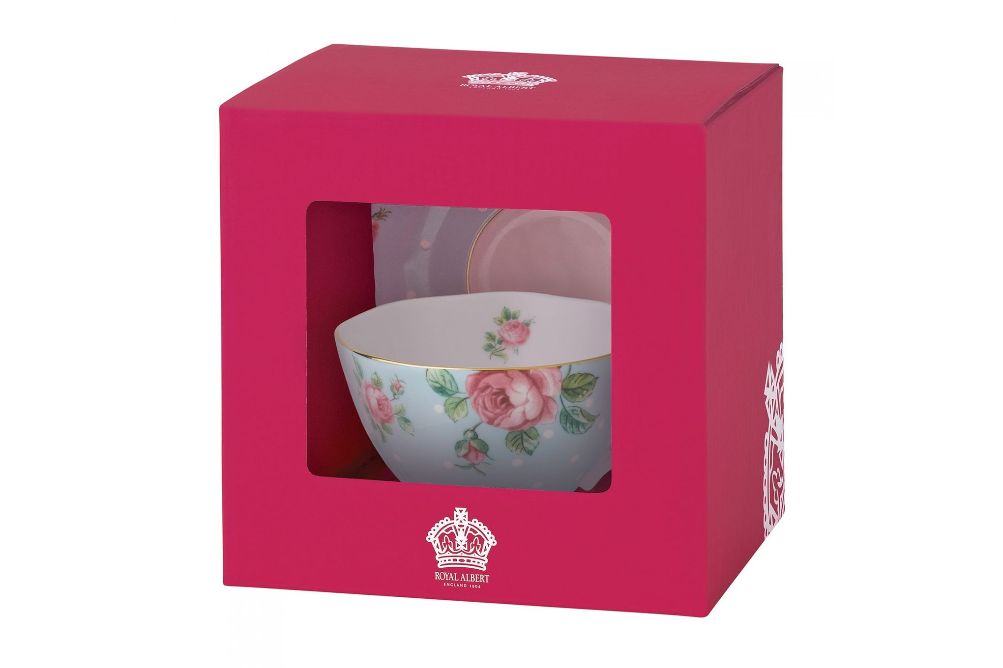 Royal Albert Polka Blue Teacup & Saucer Boxed thumb 2