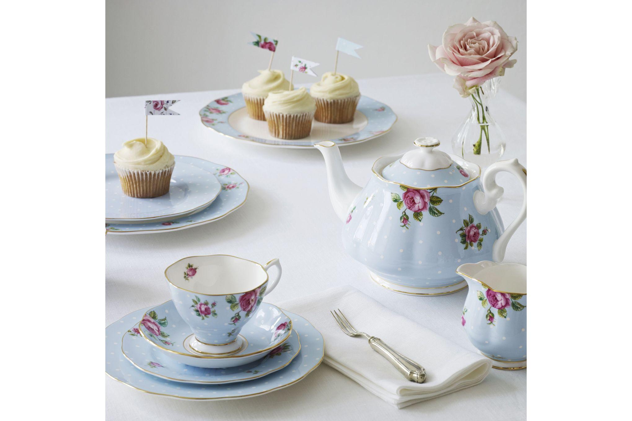Royal Albert Polka Blue Teacup & Saucer Boxed thumb 4