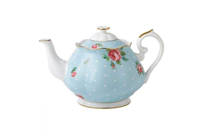 Royal Albert Polka Blue Teapot 1.25l