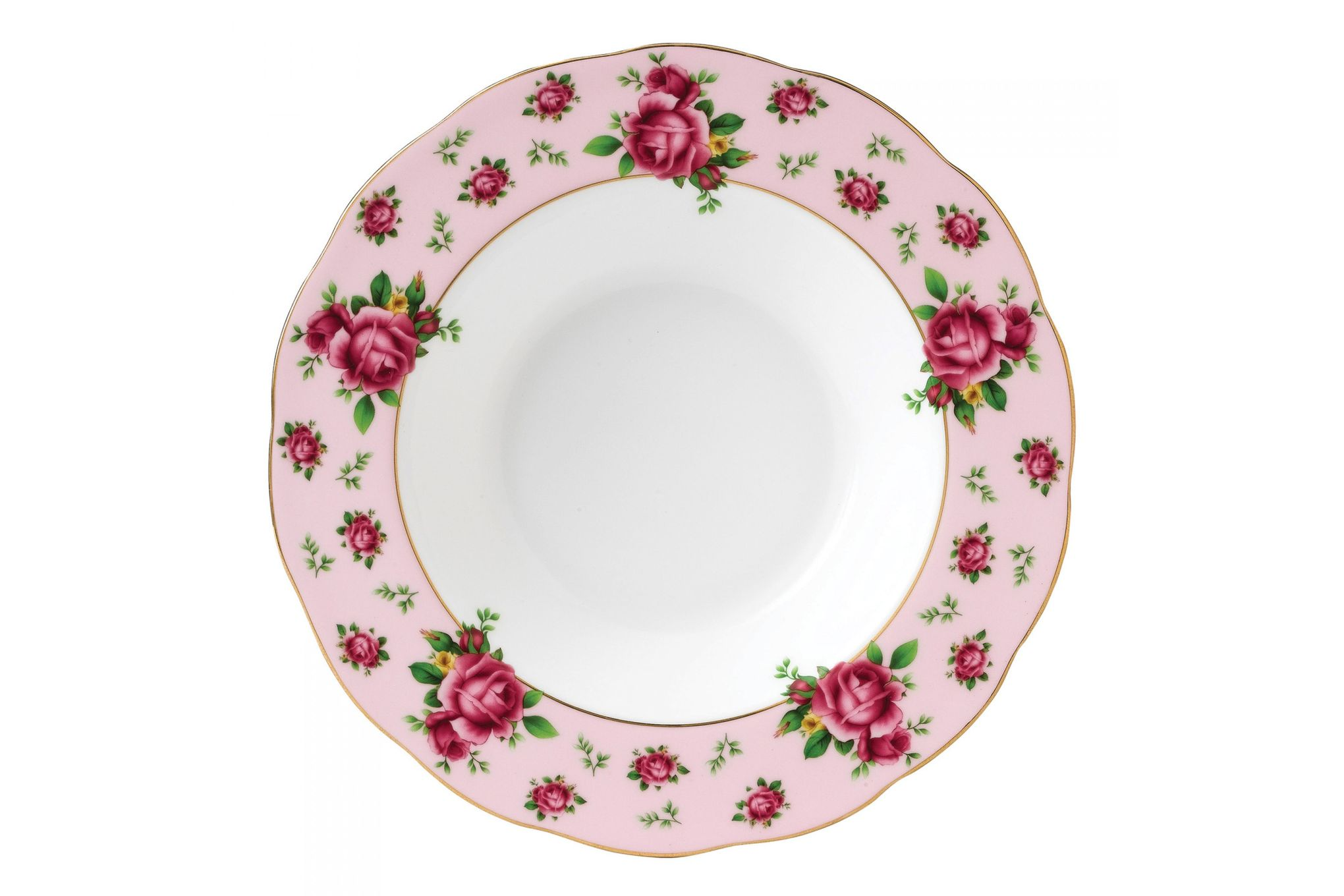 Royal Albert New Country Roses Pink Rimmed Bowl 24cm thumb 1