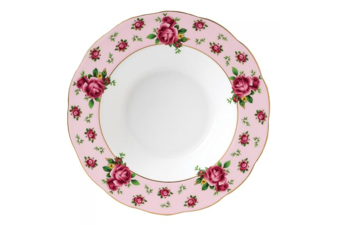 Royal Albert New Country Roses Pink Rimmed Bowl 24cm