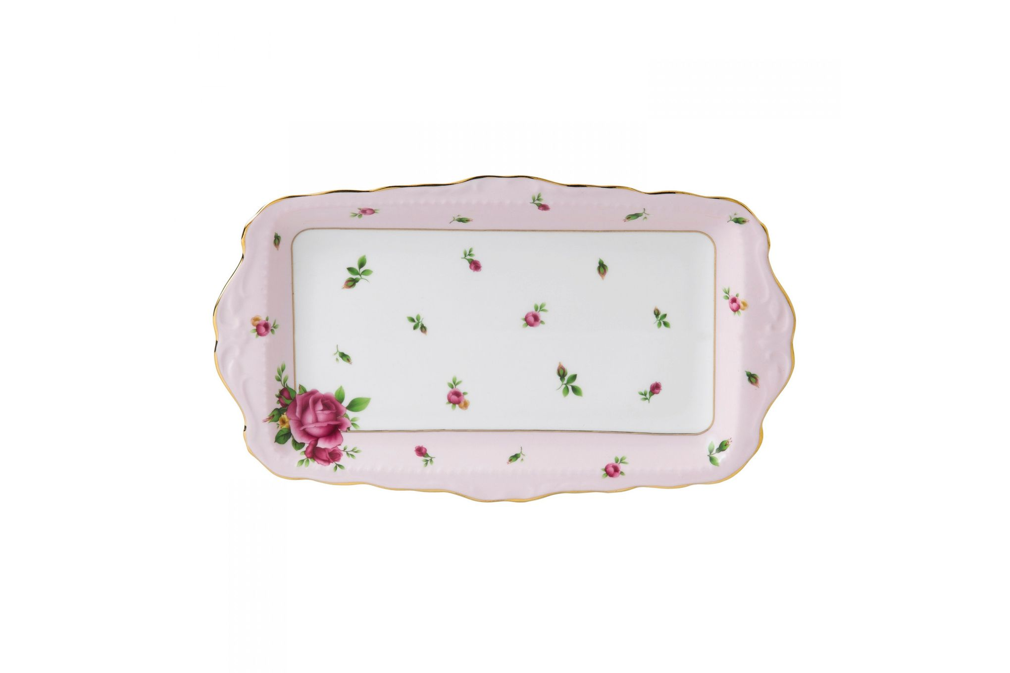 Royal Albert New Country Roses Pink Sandwich Tray Boxed thumb 1