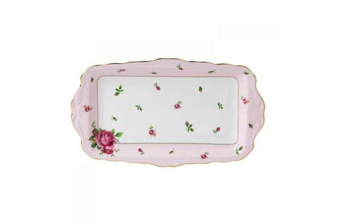 Royal Albert New Country Roses Pink Sandwich Tray Boxed