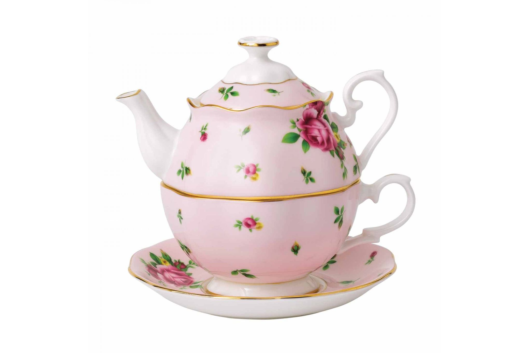 Royal Albert New Country Roses Pink Tea For One 0.49l thumb 1
