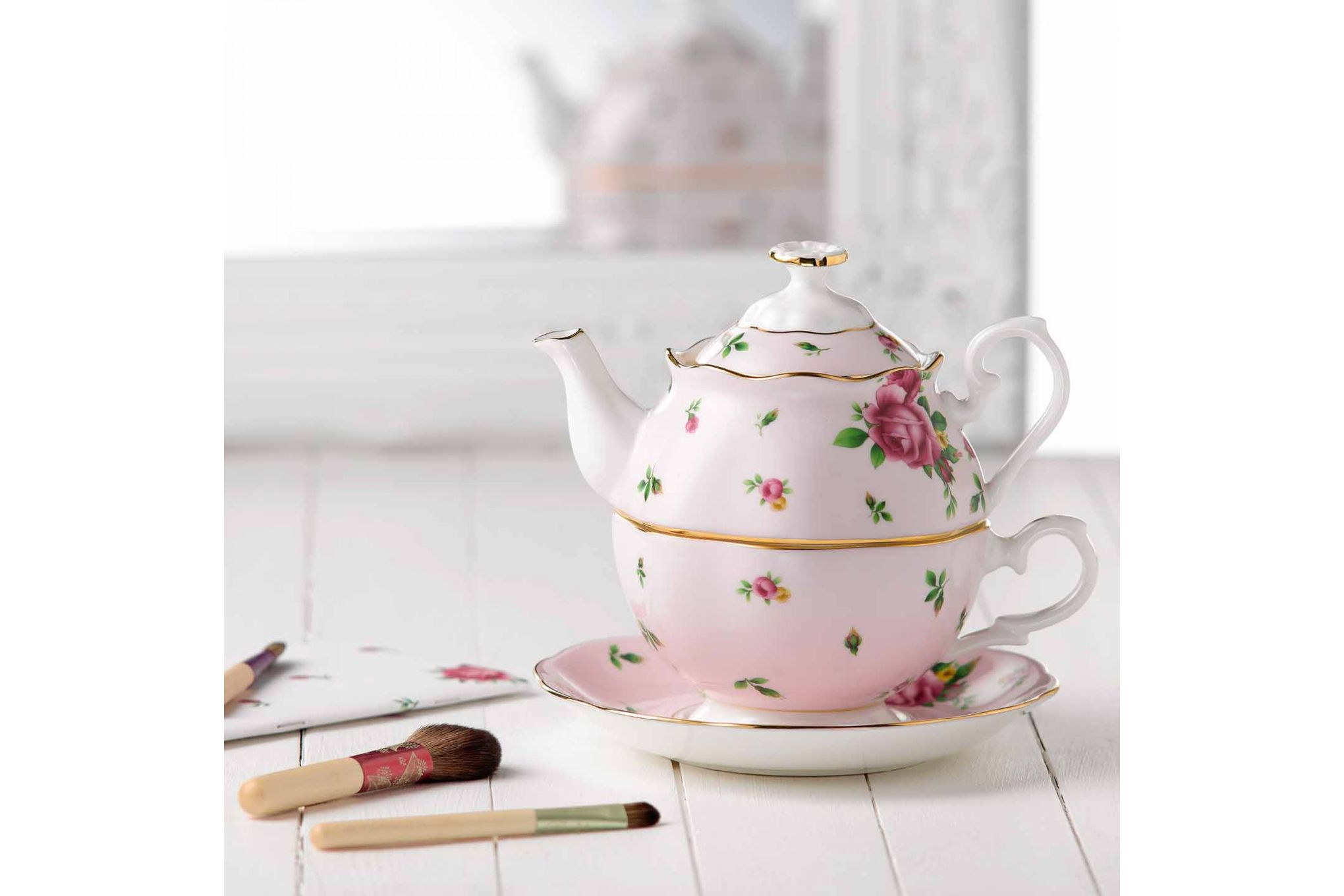 Royal Albert New Country Roses Pink Tea For One 0.49l thumb 3