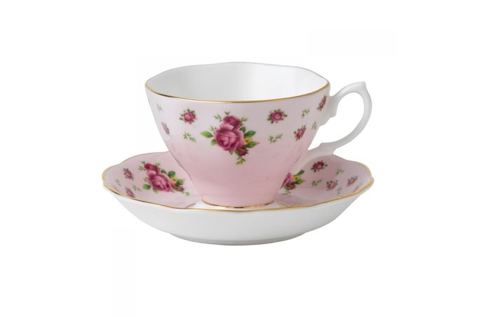 Royal Albert New Country Roses Pink Teacup & Saucer Boxed