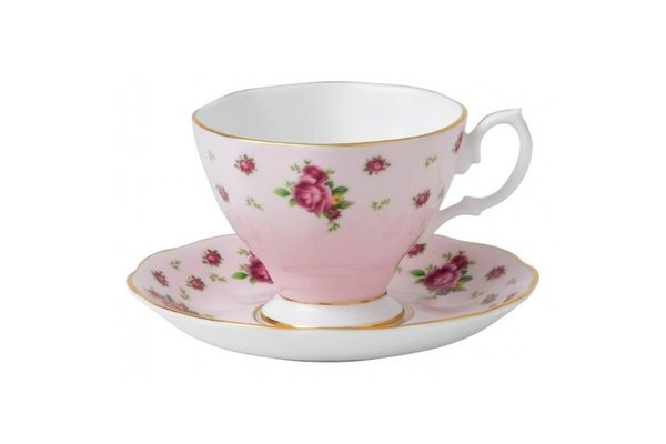 Royal Albert New Country Roses Pink Espresso Saucer Saucer Only