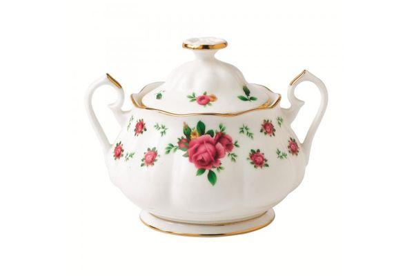 Royal Albert New Country Roses White Sugar Bowl - Lidded (Tea)