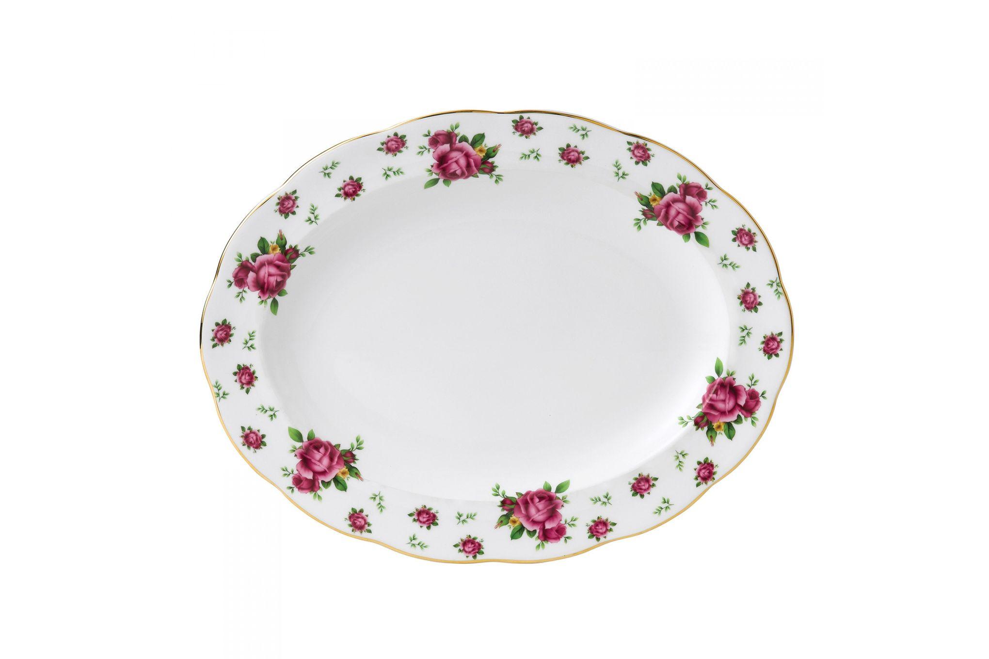 Royal Albert New Country Roses White Oval Platter 33cm thumb 1