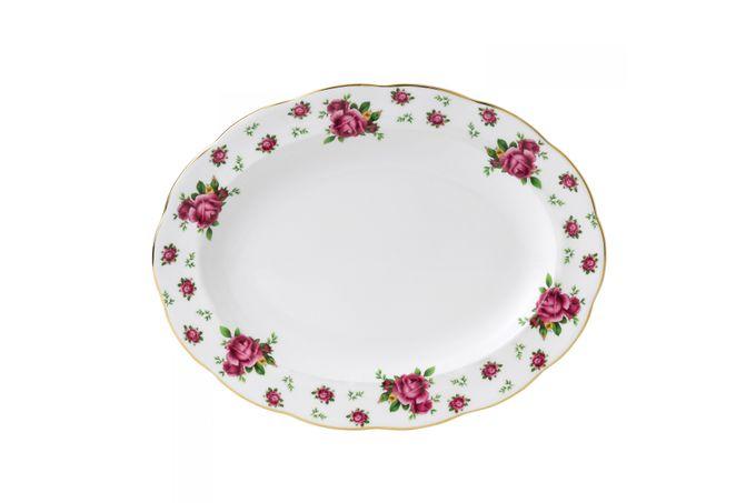 Royal Albert New Country Roses White Oval Platter 33cm