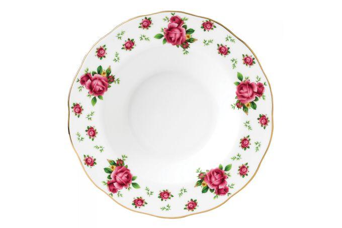 Royal Albert New Country Roses White Rimmed Bowl 24cm