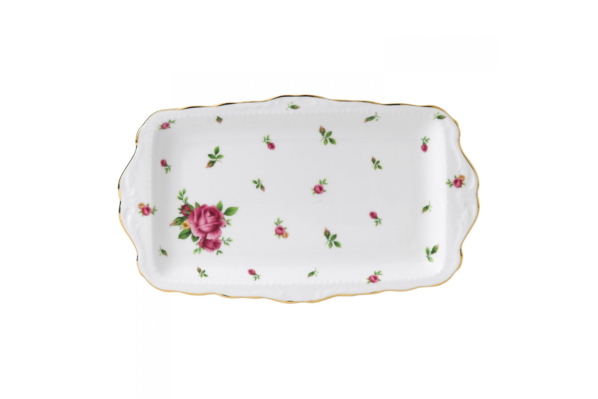 Royal Albert New Country Roses White Sandwich Tray Boxed thumb 1