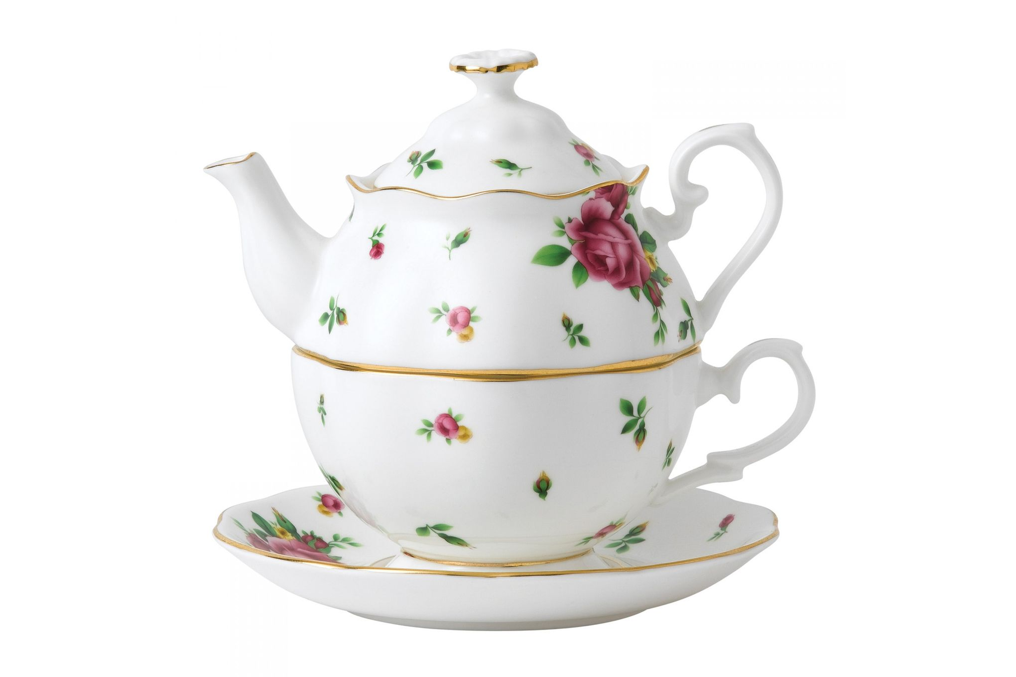 Royal Albert New Country Roses White Tea For One thumb 1