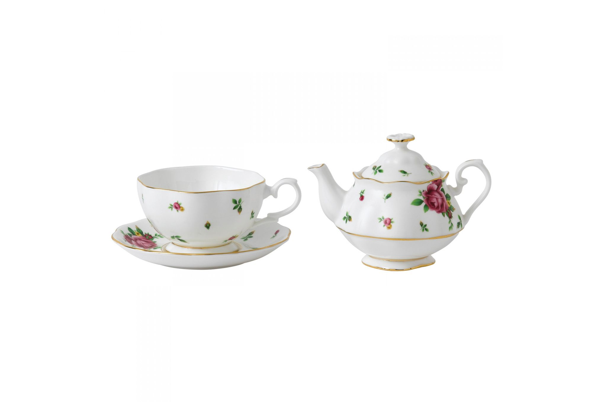 Royal Albert New Country Roses White Tea For One thumb 2