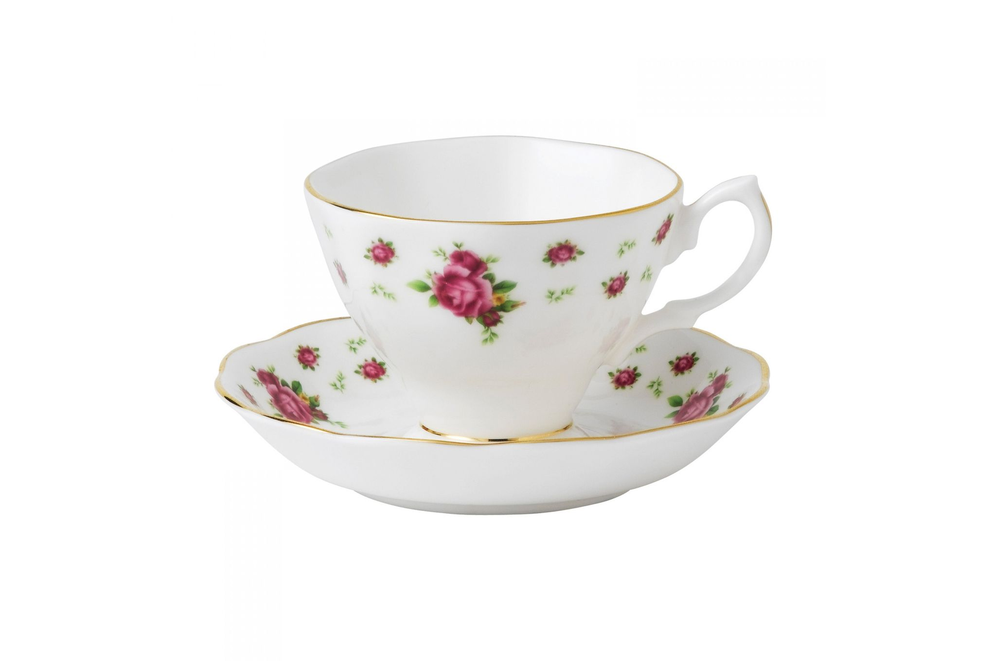 Royal Albert New Country Roses White Teacup & Saucer Boxed thumb 1