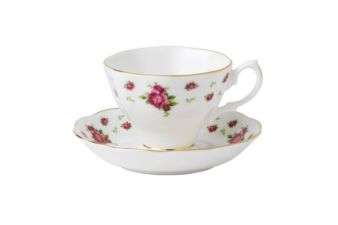 Royal Albert New Country Roses White Teacup & Saucer Boxed