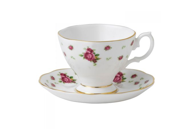 Royal Albert New Country Roses White Espresso Saucer Saucer Only