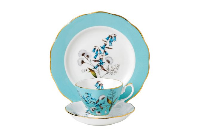 Royal Albert 100 Years of Royal Albert 3 Piece Set Festival 1950, Teacup & Saucer, Plate 20cm