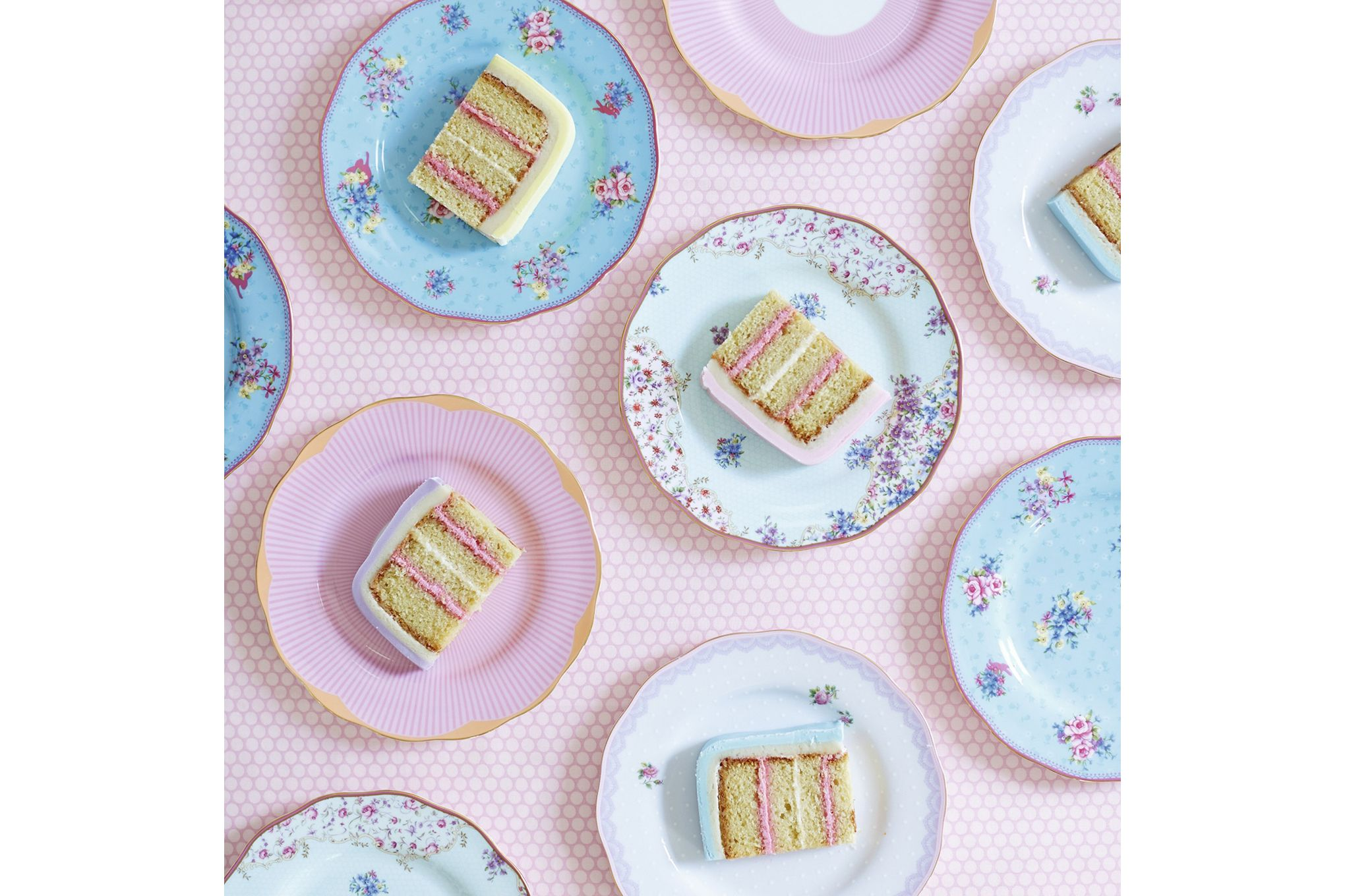 Royal Albert Candy Collection Set of Side Plates Set of 4 Mixed Plates 20cm thumb 3