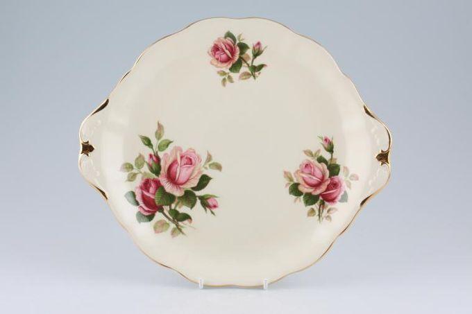 "Royal Albert English Beauty Cake Plate Round eared - Cream 10 1/2"""