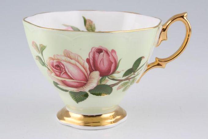 "Royal Albert English Beauty Teacup Scalloped Edge - Green 3 1/2 x 2 3/4"""