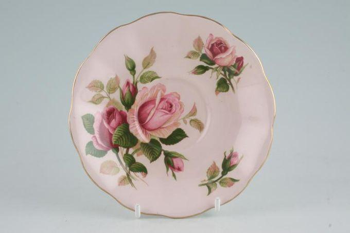 "Royal Albert English Beauty Tea Saucer Scalloped edge - Pink 5 1/2"""
