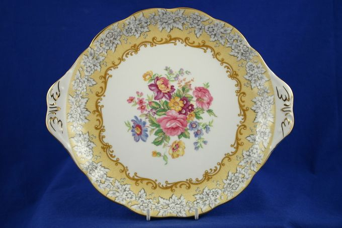 """Royal Albert Affection Cake Plate round - eared 10 1/2"""""""